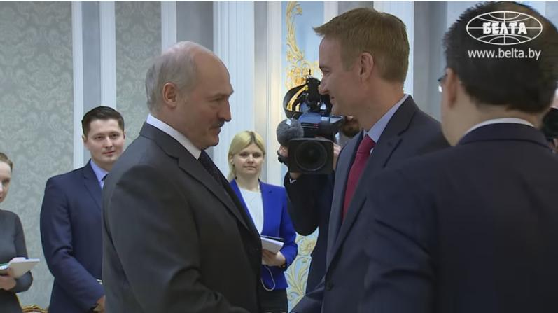 Аляксандр Лукашэнка і Майкл Карпэнтэр