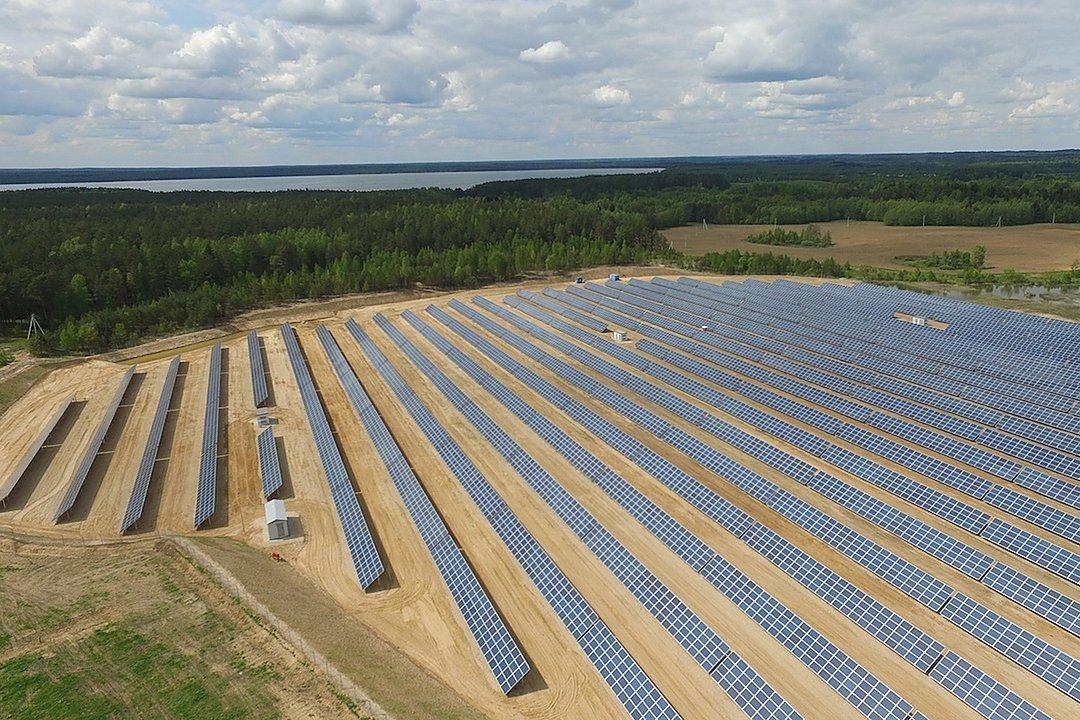 Сонечная электрастанцыя каля Мядзеля