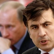 President of Russia V. Putin and former leader of Georgia M. Saakashvili Photo: Weblinks.ru