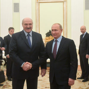 47b49c923 In December 2018, Alexander Lukashenka and Vladimir Putin held a series of  tense meetings about compensating Belarus for Russia's latest oil tax  reform.